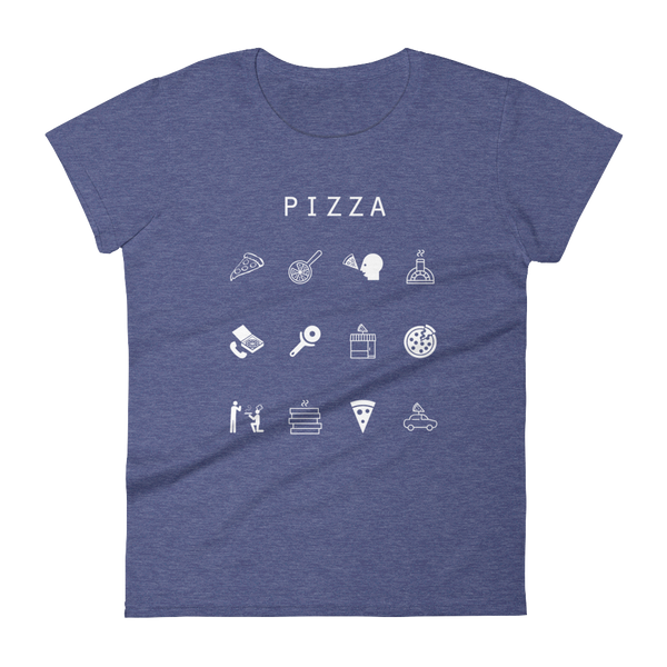Pizza Fitted Women's T-Shirt - Beacon