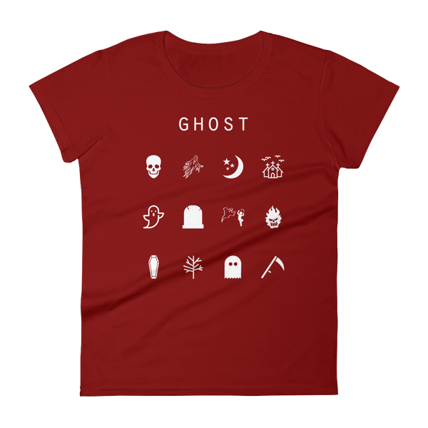 Ghost Fitted Women's T-Shirt - Beacon