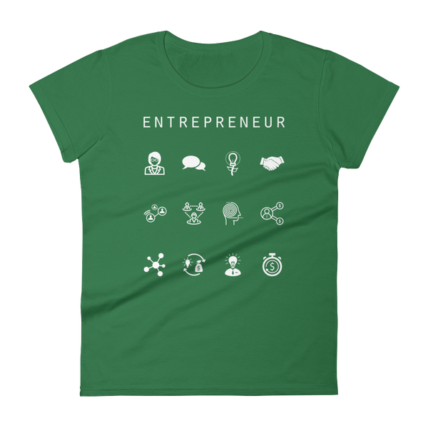 Entrepreneur Fitted Women's T-Shirt - Beacon