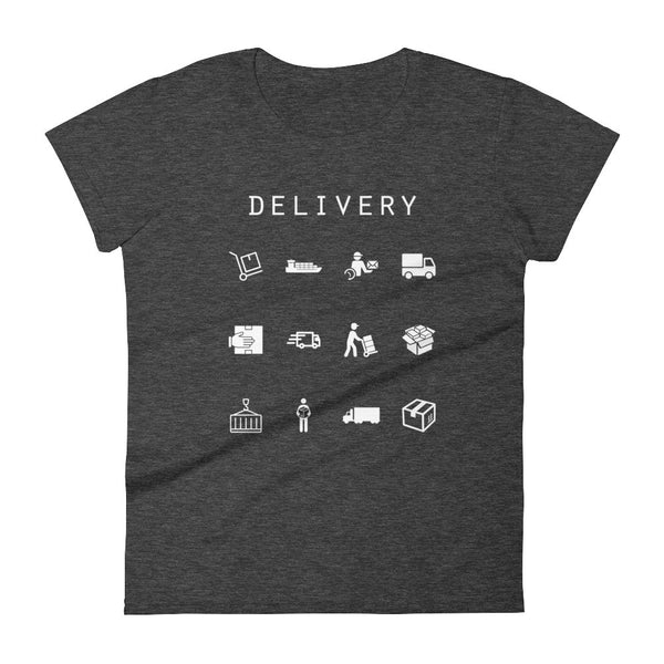 Delivery Fitted Women's T-Shirt - Beacon