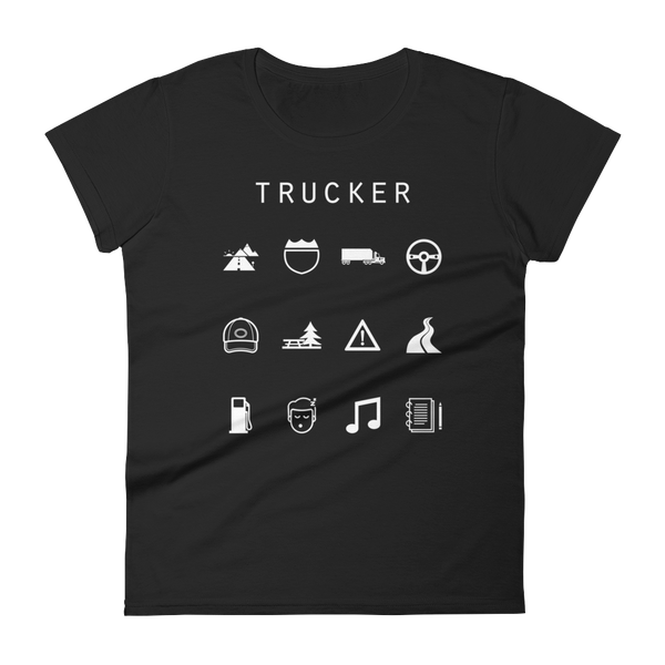 Trucker Fitted Women's T-Shirt - Beacon