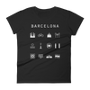Barcelona Fitted Women's T-Shirt - Beacon