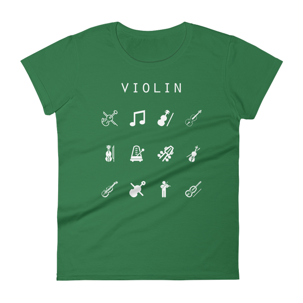Violin Fitted Women's T-Shirt - Beacon