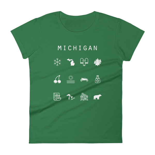 Michigan Fitted Women's T-Shirt - Beacon