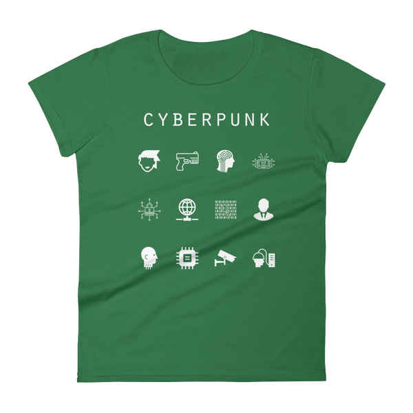 Cyberpunk Fitted Women's T-Shirt - Beacon