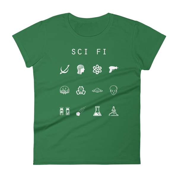 Sci-Fi Fitted Women's T-Shirt - Beacon