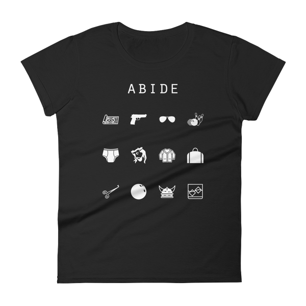 Abide (The Big Lebowski) Fitted Women's T-Shirt - Beacon