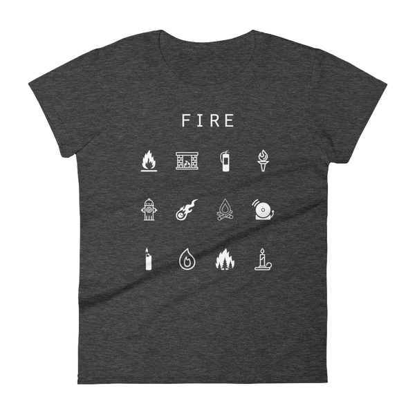 Fire Fitted Women's T-Shirt - Beacon