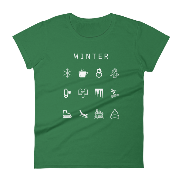 Winter Fitted Women's T-Shirt - Beacon