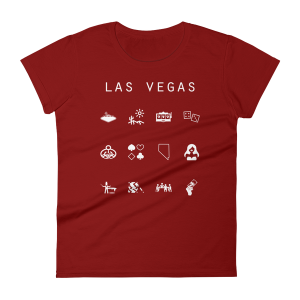 Las Vegas Fitted Women's T-Shirt - Beacon