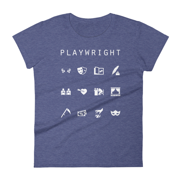 Playwright Fitted Women's T-Shirt - Beacon