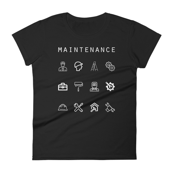 Maintenance Fitted Women's T-Shirt - Beacon
