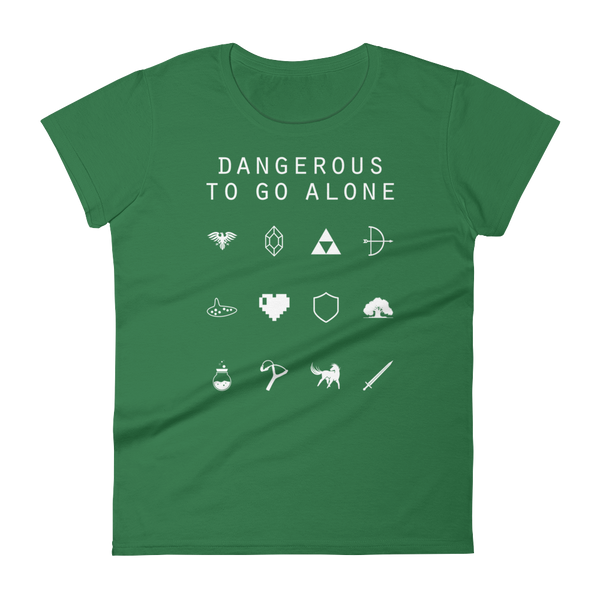 Dangerous To Go Alone (Legend of Zelda) Fitted Women's T-Shirt - Beacon