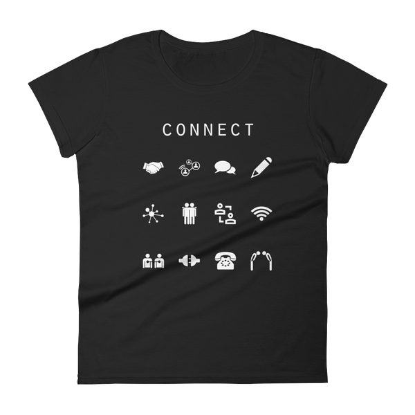 Connect Fitted Women's T-Shirt - Beacon