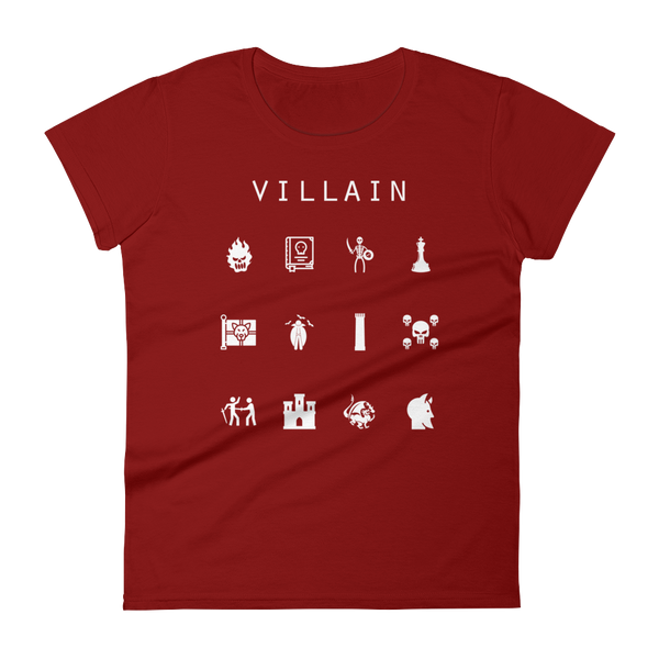 Villain Fitted Women's T-Shirt - Beacon
