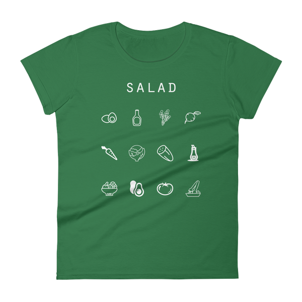 Salad Fitted Women's T-Shirt - Beacon