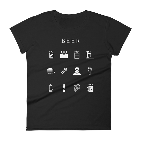 Beer Fitted Women's T-Shirt - Beacon