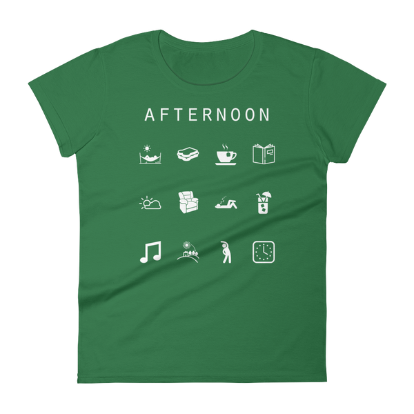 Afternoon Fitted Women's T-Shirt - Beacon