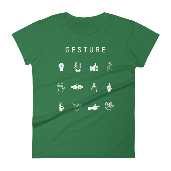 Gesture Fitted Women's T-Shirt - Beacon