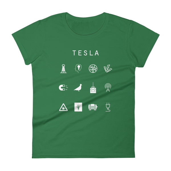 Tesla Fitted Women's T-Shirt - Beacon