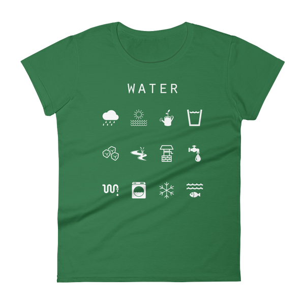 Water Fitted Women's T-Shirt - Beacon