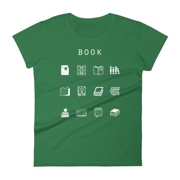 Book Fitted Women's T-Shirt - Beacon