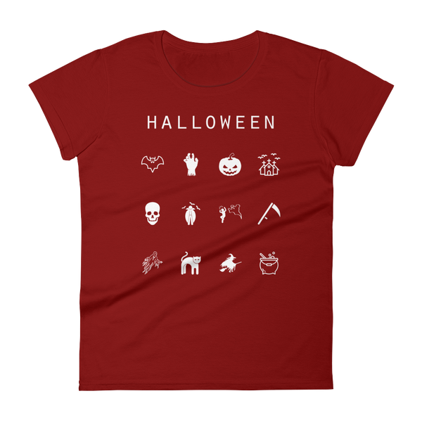 Halloween Fitted Women's T-Shirt - Beacon
