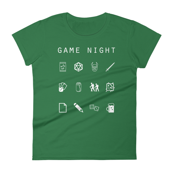 Game Night Fitted Women's T-Shirt - Beacon
