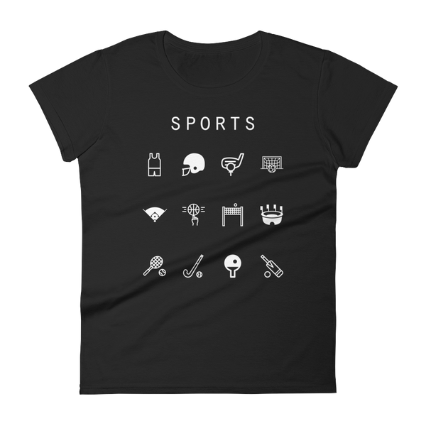 Sports Fitted Women's T-Shirt - Beacon