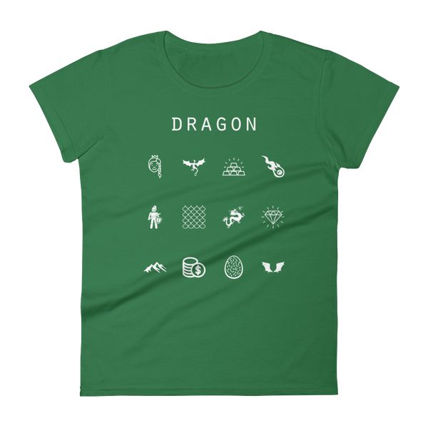 Dragon Fitted Women's T-Shirt - Beacon