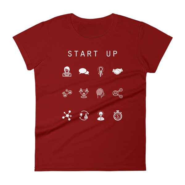Start Up Fitted Women's T-Shirt - Beacon