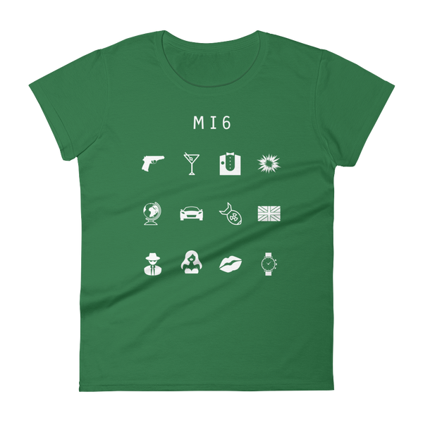 MI6 (James Bond) Fitted Women's T-Shirt - Beacon
