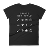 Create New World (Minecraft) Fitted Women's T-Shirt - Beacon