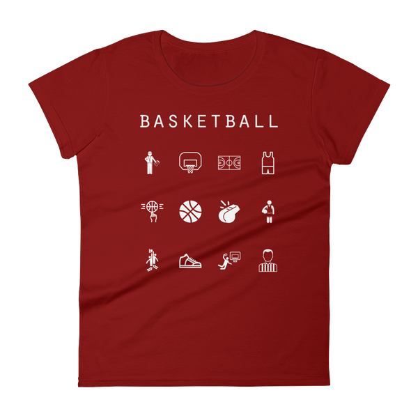 Basketball Fitted Women's T-Shirt - Beacon