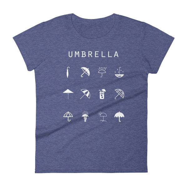 Umbrella Fitted Women's T-Shirt - Beacon