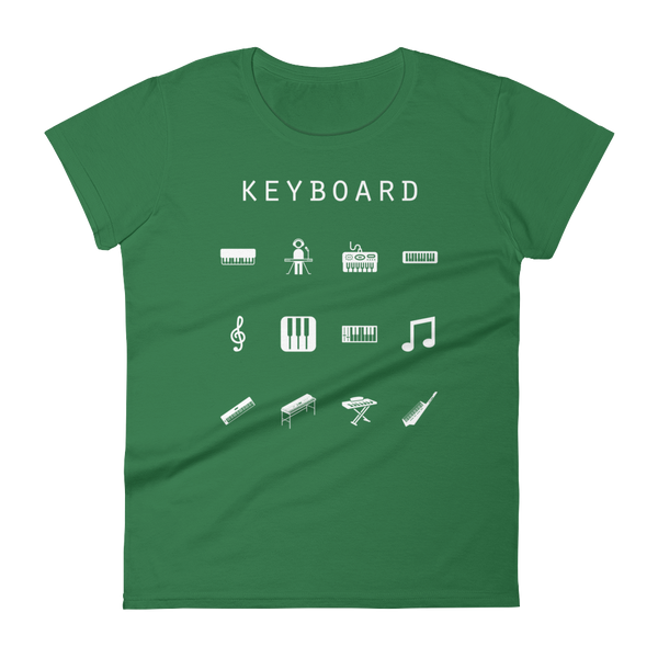 Keyboard Fitted Women's T-Shirt - Beacon
