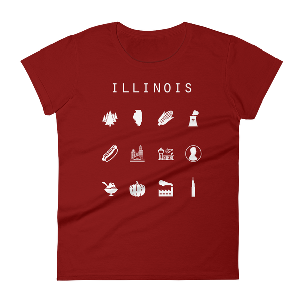 Illinois Fitted Women's T-Shirt - Beacon
