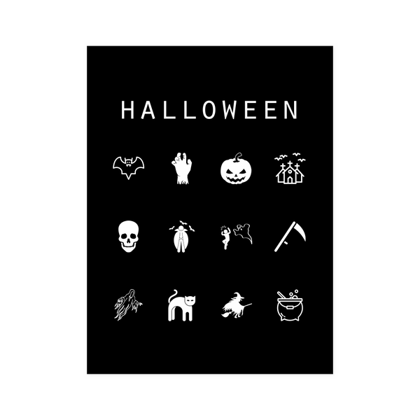 Halloween Black Poster - Beacon