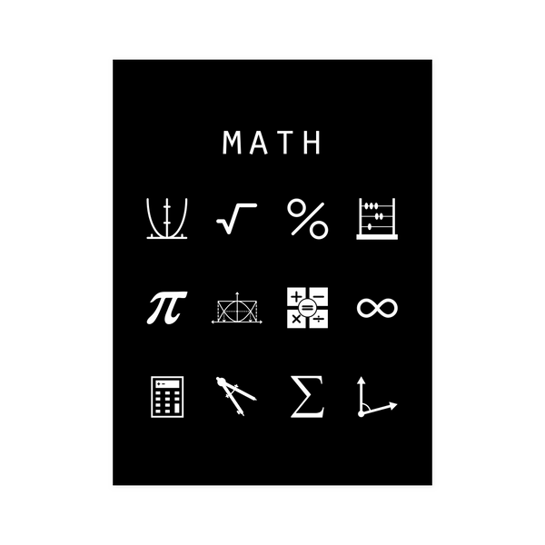 Math Black Poster - Beacon