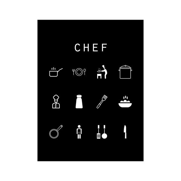 Chef Black Poster - Beacon