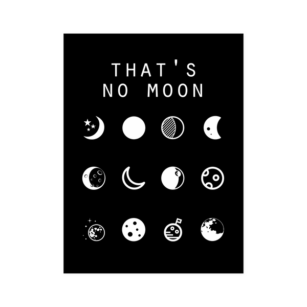 That's No Moon (Star Wars) Black Poster - Beacon