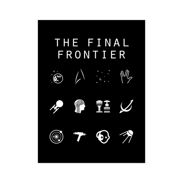 The Final Frontier (Star Trek) Black Poster - Beacon