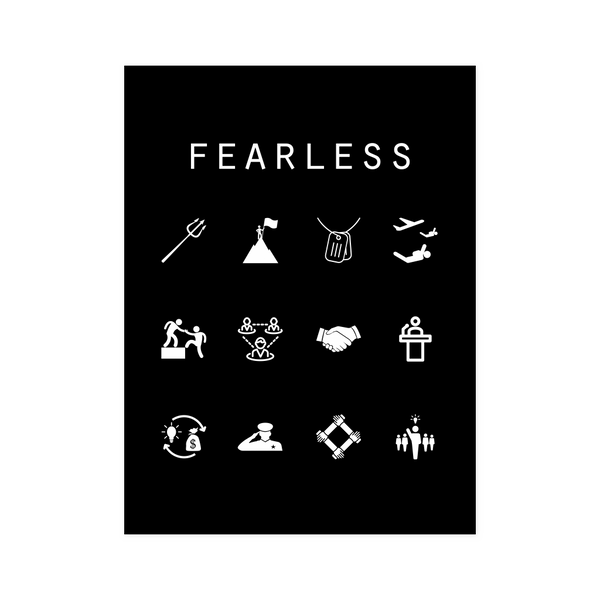 Fearless Black Poster - Beacon
