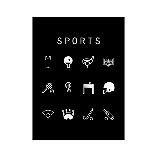 Sports Black Poster - Beacon