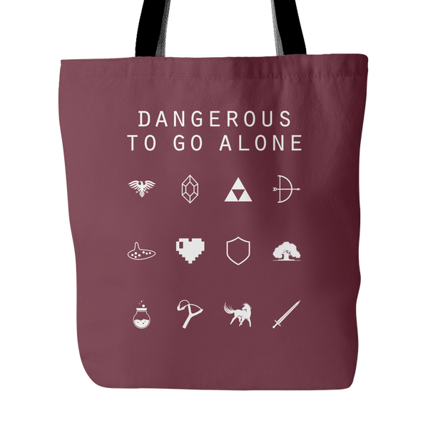 Dangerous To Go Alone (Legend of Zelda) Tote Bag - Beacon