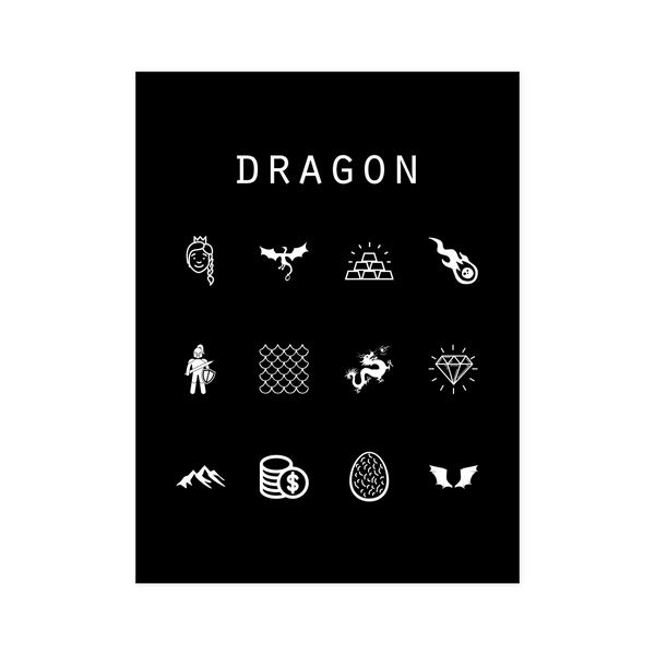 Dragon Black Poster - Beacon
