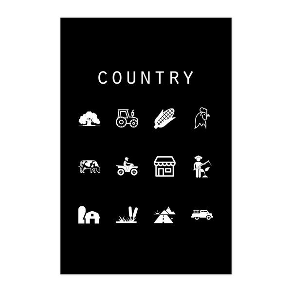 Country Black Poster - Beacon