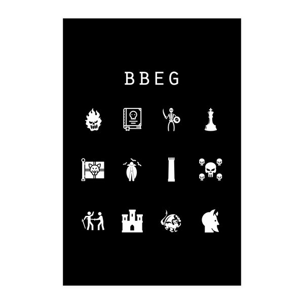 BBEG Black Poster - Beacon