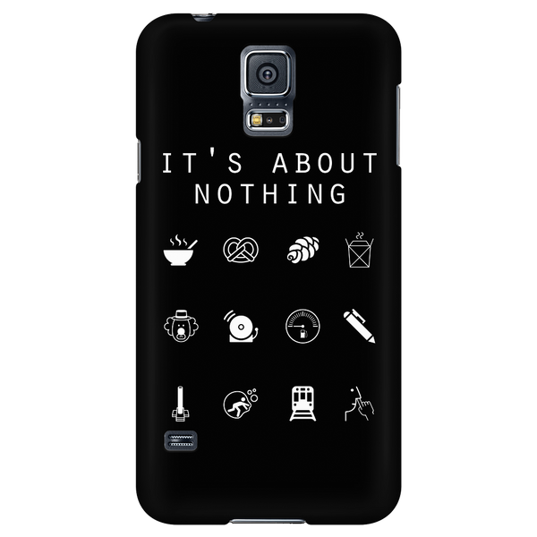It's About Nothing Black Phone Case - Beacon