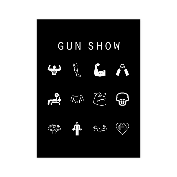 Gun Show Black Poster - Beacon